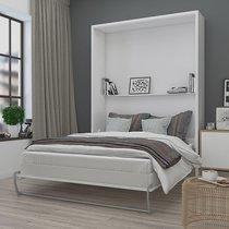 Lit escamotable vertical 140x200 cm blanc - AVELINO