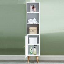 Colonne de rangement 30x29,5x139 cm décor blanc - GEONA