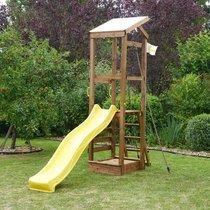 Tour d'activité en bois 1,8x2,88x3,1 m avec toboggan