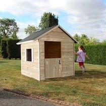 Maison de jardin 148x127x145 cm en pin naturel
