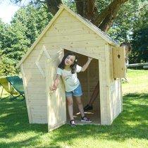 Maison de jardin 144x128x173 cm en pin naturel
