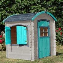 Maison de jardin toit arrondi 133x108x145 cm en pin naturel