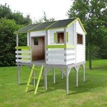 Maison de jardin surélevée 230x242x256 cm en pin naturel