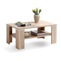 Table basse double plateau 100x60x46 cm chêne