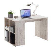 Bureau avec rangement 117x73x75 cm chêne grisé