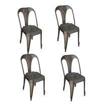 Lot de 4 chaises industrielles 38x38x83 cm en métal - TALY