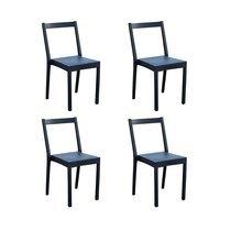 Lot de 4 chaises de jardin empilables anthracite - TYGO