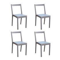 Lot de 4 chaises de jardin empilables café - TYGO