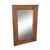 Miroir 65x97,5 cm en verre et sapin