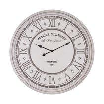 Horloge Atelier Culinaire 80 cm en bois blanc