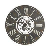 Horloge industrielle ronde 91 cm en fer noir