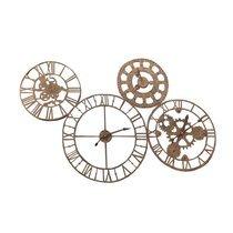 Horloge 4 cadrans 140x90 cm en fer marron vieilli