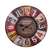 Horloge industrielle 70 cm en fer multicolore