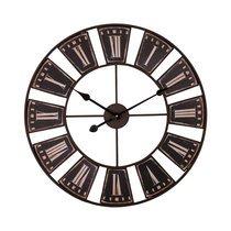 Horloge industrielle ronde 60 cm en fer noir vieilli