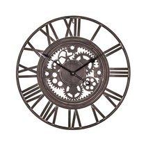 Horloge industrielle avec engrenages 60 cm en fer