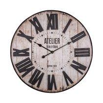 Horloge Atelier 70 cm en fer et bois