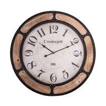 Horloge Entrepôt 60 cm en fer et verre