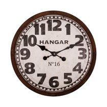 Horloge Hangar ronde 58 cm en métal marron vieilli