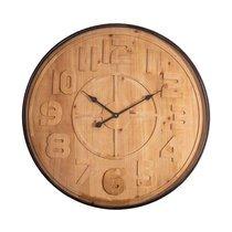 Horloge ronde 80 cm en bois et métal