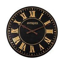 Horloge ronde 105 cm en métal noir et doré