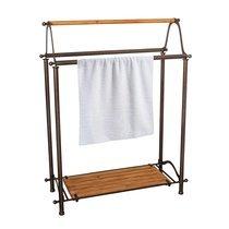 Porte serviettes industriel 67x27x88 cm en fer et pin