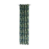 Rideau à œillets 135x250 cm en polyester imprimé jungle vert