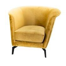 Fauteuil 93x85x73 cm en tissu jaune