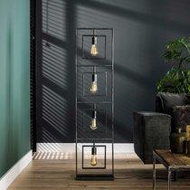 Lampadaire 4 lampes 35x22x140 cm en métal gris foncé - LERKA