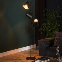 Lampadaire 3 lampes 40x40x167 cm en métal gris foncé