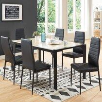Lot de 6 chaises repas 40,5x53,5x96 cm noires