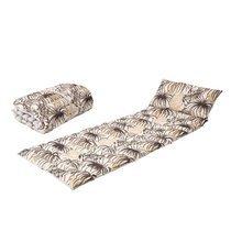 Coussin pour transat 160x60 cm en tissu noir et beige - TAITHI