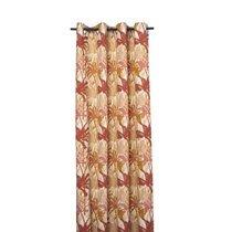 Rideau à œillets 135x250 cm en tissu imprimé terracotta - BALI