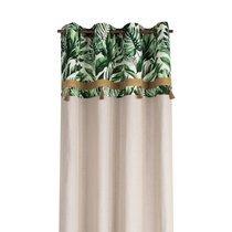 Rideau à œillets 135x250 cm en tissu imprimé feuilles - VERDY