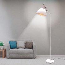 Lampadaire 42x172 cm en plastique et métal blanc