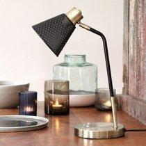 Lampe à poser 26x16x42 cm en métal laiton et noir