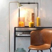 Lampadaire 38x20x133 cm en métal et marbre laiton
