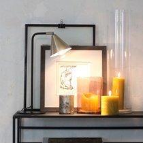 Lampe à poser 30x16x47 cm en métal laiton et noir
