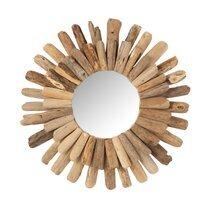 Miroir rond 55 cm en bois flotté naturel