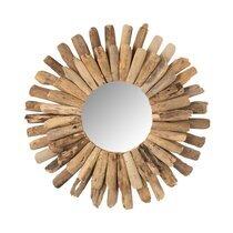 Miroir rond 70 cm en bois flotté naturel