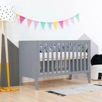 Lit bébé 60x120 cm en bois gris
