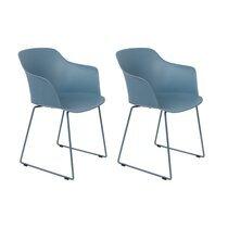 Lot de 2 fauteuils repas 58x54x81,5 cm bleu - TANGO
