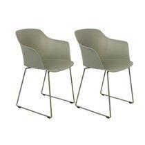 Lot de 2 fauteuils repas 58x54x81,5 cm vert - TANGO