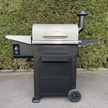 Barbecue aux pellets 118,5 cm en acier noir et gris - TAVOLA