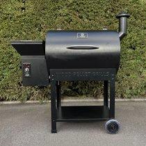 Barbecue aux pellets 123 cm en acier noir - TAVOLA