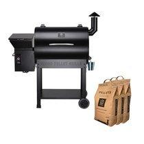 Barbecue aux pellets 123 cm en acier noir avec 3 sacs - TAVOLA