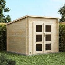 Abri de jardin 2 portes 6,20 m2 en madriers à emboiter - SCHELTY