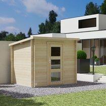 Abri de jardin 1 porte 4,90 m2 en madriers à emboiter - SCHELTY