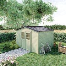Abri de jardin 2 portes 9,24 m2 en madriers à emboiter - ONEGA
