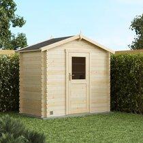 Abri de jardin 1 porte 3,70 m2 en madriers à emboiter