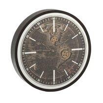 Horloge mappemonde 48 cm noir et doré